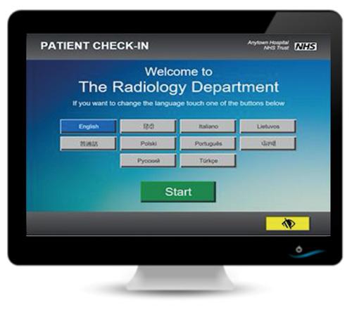 Savience CareExpress Radiology screen
